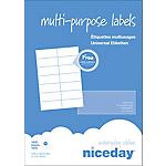 100 Feuilles adresse multifonctions   Niceday   format A4 14 étiquettes par feuille de 105 x 42,3 mm