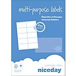 100 Feuilles adresse multifonctions   Niceday   format A4 10 étiquettes par feuille de 105 x 57 mm