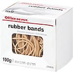 Boîte de 100g de bracelets élastiques   Office DEPOT   100 x 2  mm