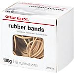 Bracelets élastiques caoutchouc Office Depot 100 g   Sac de 100 g