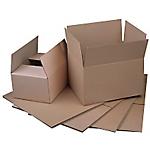 20 caisses américaines   simple cannelure   L.50 x l.30 x H.30 cm   brun