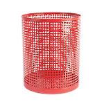 Papelera Foray Mesh rojo metal