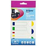 Etiquetas autoplastificadas Avery 60 124 Colores surtidos 36 etiquetas por paquete Paquete de 36