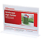Expositor sobremesa Office Depot 2 caras A4 Horizontal Transparente poliestireno 297 (a) x 85 (p) x 214 (h) mm