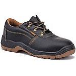 Zapatos de seguridad Tally Style S1P piel flor, poliuretano doble densidad talla 45 negro