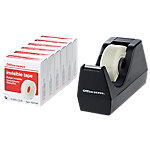 Dispensador con cinta Office Depot negro 25mm (A) x 33m (l) x 1,9cm (a) x 7,3cm (h) x 6,4cm (p)