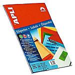 Etiqueta adhesiva APLI Rojo 320 etiquetas por paquete Paquete de 20
