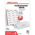 Etiqueta multifunción Office Depot blanco 2100 etiquetas por paquete caja de 100