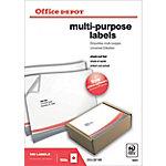 Etiqueta multifunción Office Depot blanco 210 (a) x 297 (h) mm 100 etiquetas por paquete