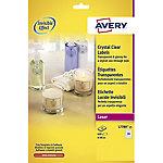 Etiqueta multimedia Avery Zweckform transparente 63,5 (a) x 38,1 (h) mm 525 etiquetas por paquete