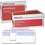 Sobre con tira de silicona Office Depot blanco sin ventana strip extraíble 90 g