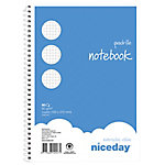 Cuaderno espiral Niceday Azul Cuadrícula 4x4 mm microperforado Cuarto 15,5 (a) x 21,5 (h) cm 60 g