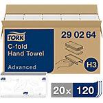 Toallita secamanos Tork Advanced Plegada en C 2 capas Paquete de 20