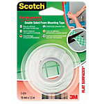 Soporte adhesivo Scotch Doble cara verde 19mm (a) x 1,5m (l)