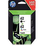Cartucho de tinta HP original 62 negro & 3 colores n9j71ae paquete de 2