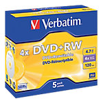 DVD+RW Verbatim 4.7 gb 5unidades