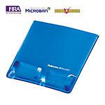 Alfombrilla con reposamuñecas para ratón Fellowes Health V Crystal azul 20,9 (a) x 25 (p) x 2,2 (h) cm