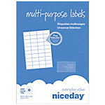 Etiqueta multifunción Niceday 813721 blanco 52,5 (a) x 29,7 (h) mm 4000 etiquetas por paquete