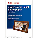 Papel fotográfico profesional Office Depot A4 brillante 270 g