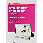 Papel fotográfico profesional Office Depot Premium A4 brillante 280 g