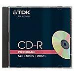 CD R TDK 52x 700 mb 10unidades