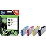 Cartucho de tinta HP original 364xl negro & 3 colores n9j74ae paquete de 4