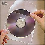 Funda para CD 3L transparente con autoadhesivo 127 (a) x 127 (h) mm 10unidades