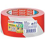 Cinta señalizadora tesa Signal Universal rojo, blanco 50mm (a) x 66m (l)