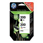 Cartucho de tinta HP original 300 & 300 negro & 3 colores cn637ee paquete 2