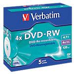 DVD RW Verbatim 4.7 gb 5unidades
