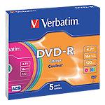 DVD R Verbatim 4.7 gb 5unidades
