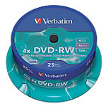 DVD RW Verbatim 4.7 gb 25unidades
