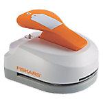 Perforadora de etiquetas Fiskars 3 en 1 blanco, naranja 5 x 7.5 cm