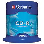 CD R Verbatim 52x 700 mb 100unidades
