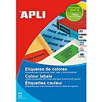 Etiqueta multifunción APLI 01591 Amarillo 480 etiquetas por paquete Paquete de 20