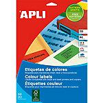 Etiqueta multifunción APLI 01593 Rojo 480 etiquetas por paquete Paquete de 20