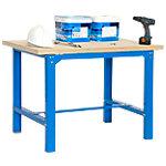 Banco trabajo madera Simonrack Azul 120 (a) x 86,5 (h) x 75 (p) cm