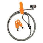 Cable antirrobo Kensington Slim MicroSaver gris, naranja 1,8m (l) x 5,3mm (a)