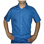 Camisa manga corta 2 bolsillos delanteros poliéster talla m Azul