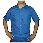 Camisa manga corta 2 bolsillos delanteros poliéster talla l Blanco