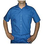 Camisa manga corta 2 bolsillos delanteros poliéster talla xxl Azul marino
