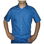 Camisa manga corta 2 bolsillos delanteros poliéster talla xxl Azul