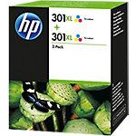 Cartucho de tinta HP original 301xl 3 colores d8j46ae paquete 2