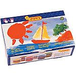 Pintura de dedos JOVI lavable colores surtidos 6 unidades