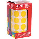 Gomets en rollo Apli Redondos amarillo papel 20mm (Ø) 1.770 unidades