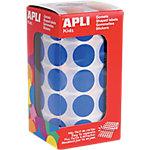 Gomets redondos en rollo APLI Azul 1770 etiquetas por paquete