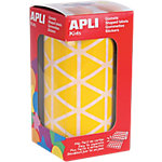 Gomets triangulares en rollo APLI Amarillo 2596 etiquetas por paquete