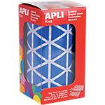 Gomets triangulares en rollo APLI Azul 2596 etiquetas por paquete