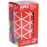 Gomets triangulares en rollo APLI Rojo 2596 etiquetas por paquete