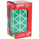 Gomets triangulares en rollo APLI Verde 2596 etiquetas por paquete